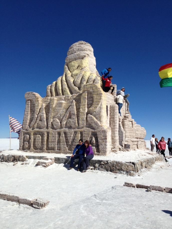 Monumento de sal Dakar Salar de Uyuni