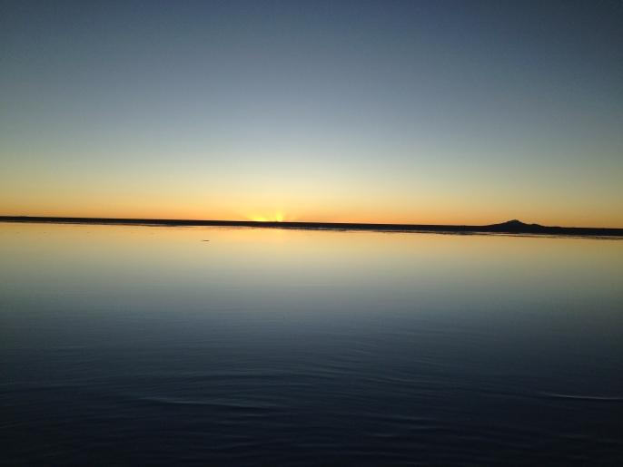 Atardecer en Salar de Uyuni
